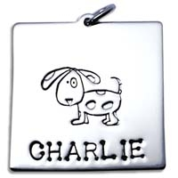 X-Large Square Charm - Dog