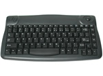 Black Mini Desk Wireless Keyboard w/ trackball