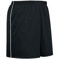 Pin Stripe Soccer Short Black