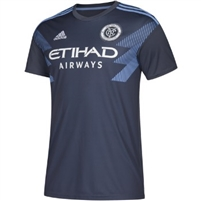 Men's New York City FC adidas Gray 2018 Secondary Replica Jersey