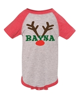 PERSONALIZED Christmas Infant Baseball Bodysuit