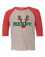 PERSONALIZED Christmas Youth Baseball Jersey Tee