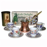 Turkish Coffee Set for four with coffee