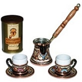 Turkish Coffee Set for Two with decorations