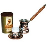 Turkish Coffee Set for one with Turkish coffee