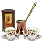 Turkish Coffee Set for Two with Mehmet Efendi coffee - Lilac