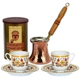 Turkish Coffee Set for Two with Mehmet Efendi coffee - Holly