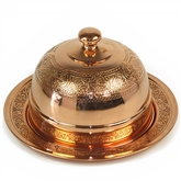 Turkish Coffee Cup with dome cover - Copper