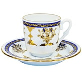 Turkish Coffee Cup with Saucer (Porcelain) - Defne