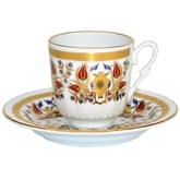 Turkish Coffee Cup with Saucer (Porcelain) - Istanbul