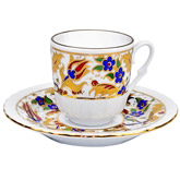 Turkish Coffee Cup with Saucer (Porcelain) - Tulip II