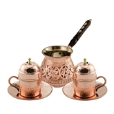 Engraved Turkish Coffee Set with Mustafa Efendi  Turkish Coffee