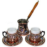 Turkish Coffee Set for Two - Double Size