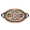 Oval Tray with Brass Handles - Small