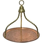 Traditional Turkish coffee house tray - copper