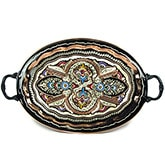 Oval Tray with Brass Handles - Large II