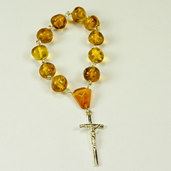 Natural Amber Finger Rosary