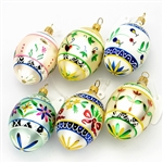 Pisanki Ornaments - (Egg shaped) - Set A