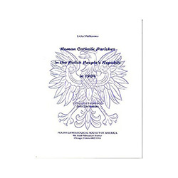 Locate parishes in modern Poland. Essential for finding family baptismal, death and marriage records. Shows each parish's diocese and deanery and is useful in writing to a Polish Diocesan Archive for help in finding documents. Includes a master map