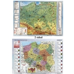 Poland Laminated Display Map - Two sided