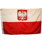 Fly your flag high, but why not complement it with a Polish flag and pay tribute to your Polish heritage.  Made for indoor use.