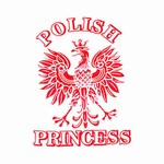 Polish Princess (White) T-Shirt, Adult