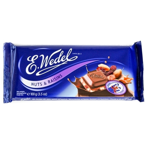 Polish Art Center - Wedel Milk Chocolate Bar with Raisins and Nuts ...