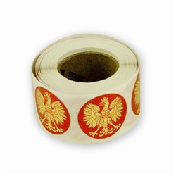 "1"" Gold Eagle Stickers on a Roll - 250 count"