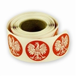 "1"" White Eagle Stickers on a Roll - 250 count"