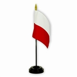 Polish Desk Flag With Stand