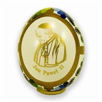 Pope John Paul II Art Egg - White