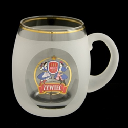 Frosted Glass Zywiec Mug