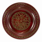 "Tatry Star Plate Red/Brown - 12"" - 31cm"