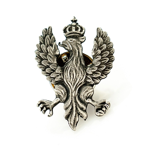 Polish art center polish eagle lapel pin made in the workshop of warsaws finest engraver and medal maker tie tack back metal aloadofball Choice Image
