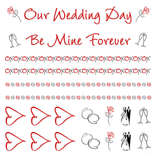 wedding embellishment paper will color coordinate with the wedding sto lat and most of the