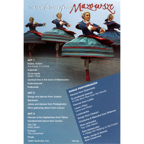 Mazowsze DVD The Music & Dance of Poland WLIW Polish Cultural Arts ...