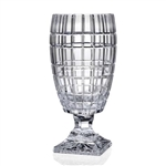 Genuine Handcut 24% Lead Crystal Footed Vase