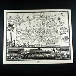 1645 Historical 4 Part Map Set Of Wieliczka And The Salt Mines