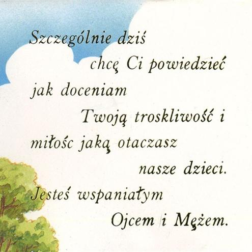 Polish Art Center Polish Fathers Day Greeting Card Husband – Birthday Card for Husband