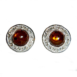 Round Honey Amber Clip-ons