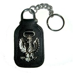 Faux Leather Eagle Key Chain