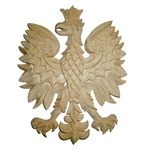 Polish Wooden Eagle Plaque