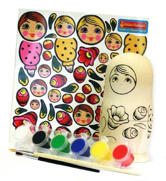 Polish Art Center Make Your Very Own Russian Nesting Doll Kit - Make your own decal kit