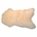 Natural Sheepskin Throw - Off-white