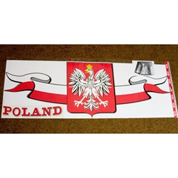 Polish Eagle Emblem Truck And Van Banner/Sticker - Display your Polish heritage on your truck, van or RV.  The red POLAND sticker (lower LH corner) is separate so you can position it anywhere you like.