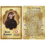 "Saint Faustina Holy Card with 3rd class relic. Sister Faustina Kowalska, a humble daughter of Poland, was Canonized by Pope John Paul II. Jesus told her ""Humanity will not find peace until it turns with trust to God's Divine Mercy""."