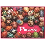 An interesting and colorful guide to pisanki from the Tarnow region of southeastern Poland.  The booklet includes a short history of Polish pisanki followed by 54 full color photographs of real pisanki from the Tarnow region.  Each example includes the na
