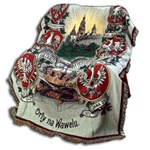 Orly Na Wawelu - Wawel Eagles -  Historical Polish Eagles Tapestry Throw