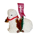 The Easter table is not complete without the Easter lamb.  Ours are made of plaster and nicely detailed.