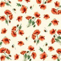 Beautiful Poppies Luncheon Napkins.  Three ply napkins with water based paints used in the printing process.